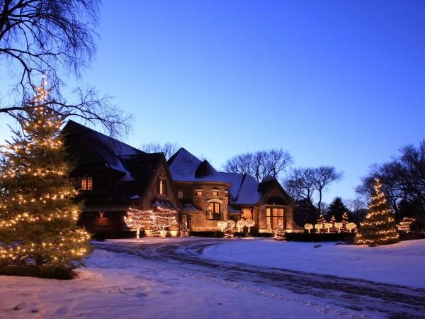 Kerst buitenfotografie
