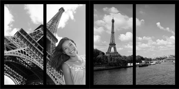 Zwarte achtergrond in fotoboek