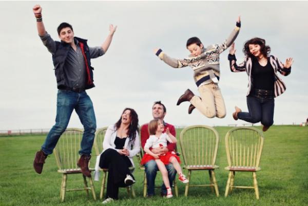 Creatieve familieportretten