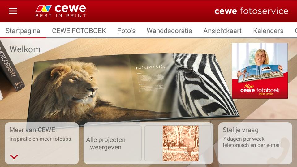 Maak gebruik van de CEWE app!