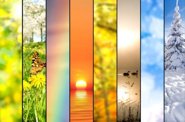 Maak een regenboogcollage